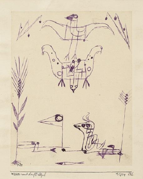 """Paul Klee: """"Wasser = und Luft-Vögel"""" (1919)"""